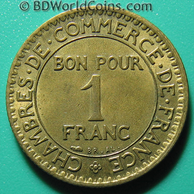 1923 france 1 one franc chamber of commerce french for Chamber of commerce france